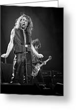 Robert Plant And Jimmy Page Greeting Card by Timothy Bischoff