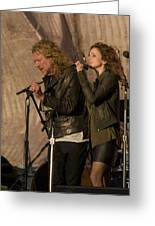 Robert Plant And Patty Griffin Greeting Card by Bill Gallagher