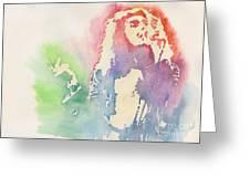 Robert Plant Greeting Card by Robert Nipper