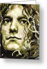 Robert Plant. Golden God Greeting Card by Tanya Filichkin