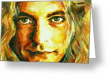Robert Plant. The Enchanter Greeting Card by Tanya Filichkin