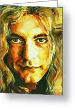 Robert Plant. The Enchanter Greeting Card by Tanya Filichkin