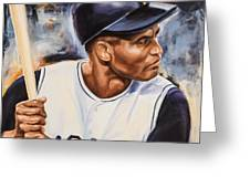 Roberto Clemente Greeting Card by Angie Villegas