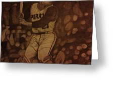 Roberto Clemente Greeting Card by Christy Saunders Church