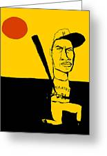 Roberto Clemente Pittsburgh Pirates Greeting Card by Jay Perkins