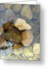 Rock And Pebbles Greeting Card by David Stribbling
