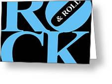 Rock And Roll 20130708 Blue Black White Greeting Card by Wingsdomain Art and Photography