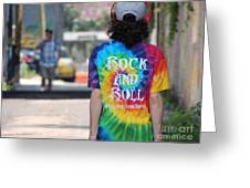 Rock And Roll Will Free Your Soul Greeting Card by Merv Scoble