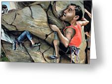 Rock Climbers Greeting Card by Denny Bond