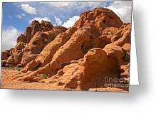 Rock Formations In The Valley Of Fire Greeting Card by Jane Rix