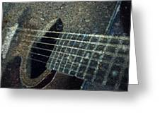 Rock Guitar Greeting Card by Photographic Arts And Design Studio