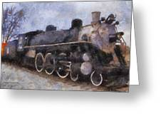 Rock Island Locomotive Engine Photo Art Greeting Card by Thomas Woolworth