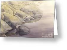 Rock Meets Water Greeting Card by Robert Hooper