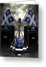 Rock N Roll Crest - Quebec Greeting Card by Frederico Borges