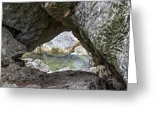 Rock Window Greeting Card by David Morefield