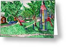 Rocket Slide Greeting Card by Jame Hayes