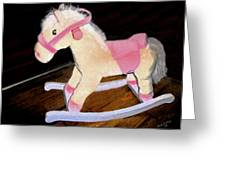 Rocking Horse Greeting Card by Brandy Nicole Clark