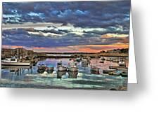 Rockport Dusk Greeting Card by Joann Vitali