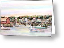 Rockport Harbor Ma Greeting Card by Pamela Parsons