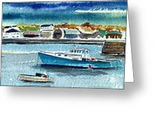 Rockport Harbor Greeting Card by Scott Nelson