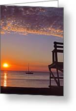 Rockport Sunset Greeting Card by Joann Vitali