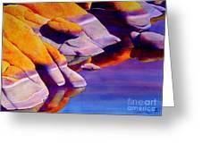 Rocks At Watson Lake Greeting Card by Robert Hooper