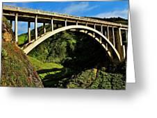 Rocky Creek Bridge Greeting Card by Benjamin Yeager