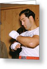 Rocky Marciano Getting Ready Greeting Card by Retro Images Archive