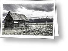 Rocky Mountain Past Greeting Card by John Haldane