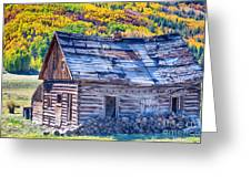 Rocky Mountain Rural Rustic Cabin Autumn View Greeting Card by James BO  Insogna