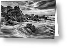 Rocky Shore Greeting Card by About Light  Images