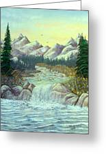 Rocky Waters Greeting Card by David Bentley
