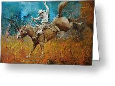 Rodeo 001 Greeting Card by Corporate Art Task Force