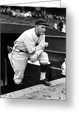 Rogers Hornsby Leaning On One Knee Greeting Card by Retro Images Archive