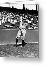Rogers Hornsby Warm Up Throws Greeting Card by Retro Images Archive