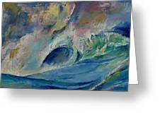 Rogue Wave Greeting Card by Michael Creese
