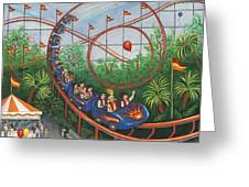 Roller Coaster Greeting Card by Linda Mears