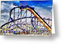 Roller Coaster Painting Greeting Card by Magomed Magomedagaev