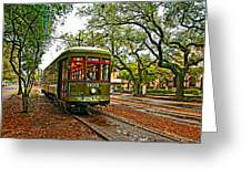 Rollin' Thru New Orleans Painted Greeting Card by Steve Harrington