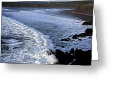 Rolling Waves Greeting Card by Aidan Moran