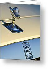 Rolls-royce Hood Ornament 3 Greeting Card by Jill Reger