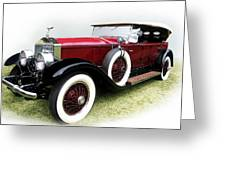 Rolls-royce Phantom I 1929 Greeting Card by Adam Rozsa