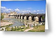 Roman Bridge In Cordoba Greeting Card by Artur Bogacki