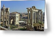 Roman Forum  Greeting Card by Tony Murtagh