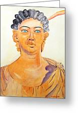 Roman Statue Coming Alive  Greeting Card by Geeta Biswas