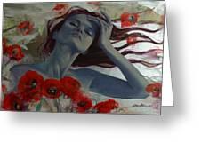 Romance Echo Greeting Card by Dorina  Costras