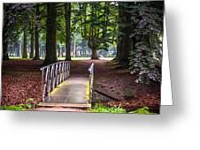 Romantic Bridge To Shadow Place. De Haar Castle Greeting Card by Jenny Rainbow