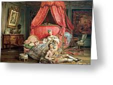 Romantic scene Greeting Card by Ignacio De Leon y Escosura