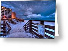 Romar Beach Clouds Greeting Card by Michael Thomas