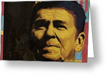 Ronald Reagan Greeting Card by Corporate Art Task Force